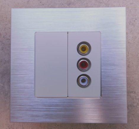 WAUD-6 1/2 Audio csatlakozó aljzat fehér