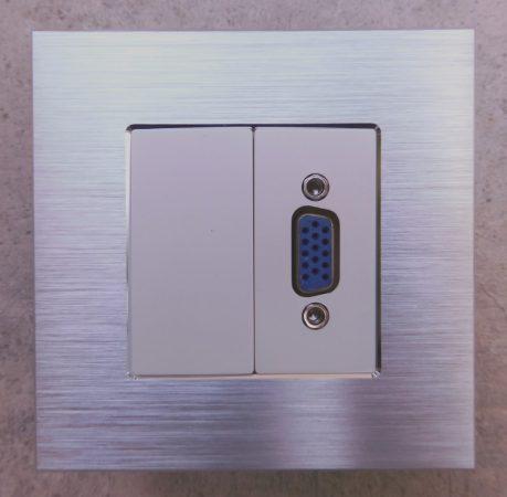 WHDMI-5  1/2 HDMI csatlakozó aljzat fehér