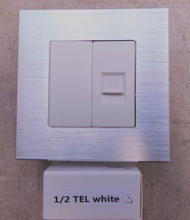 WTEL-4 1/2 Telefon csatlakozó aljzat fehér